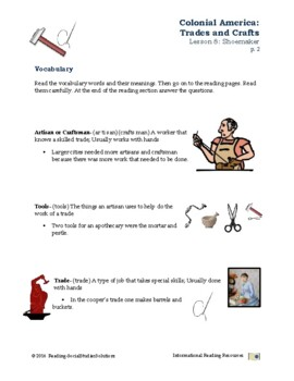 Colonial Trades Lesson 8 - Shoemaker