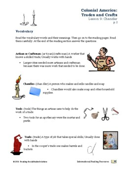Colonial Trades Lesson 9 - Chandler