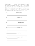 Colonial Unit - Math Worksheet for 4th Grade (place value)