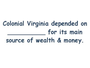 VA Studies: Colonial Virginia Flashcards- task cards study guide state exam prep