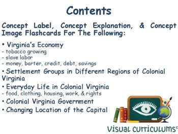 VA Studies Colonial Virginia Flashcards task cards state exam prep 2017 2018