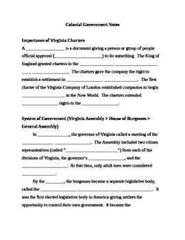 Colonial Virginia Government Notes