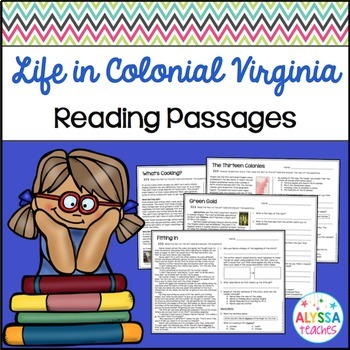 Colonial Virginia Reading Passages and Questions (VS.4)