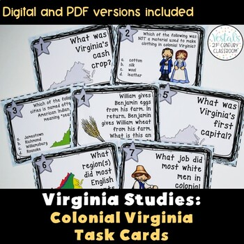 Colonial Virginia Task Cards