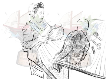 Colonial Wigmaker Clipart