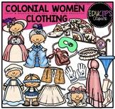 Colonial Women - Clothing Clip Art Bundle {Educlips Clipart}
