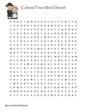 Colonial Word Search Puzzle
