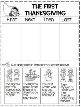 The First Thanksgiving for the Primary Child...Craft and Activities!