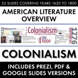 Colonialism American Literature Movement from Puritans to Founding Fathers