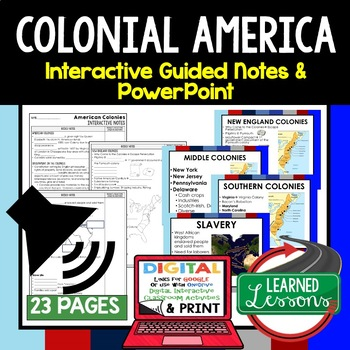 Colonialism Interactive Guided Notes and PowerPoints American History