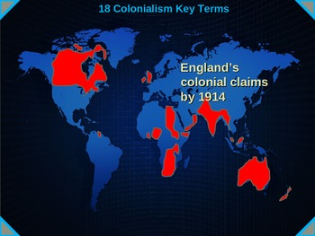 Colonialism Intro - 18 Key Terms with video links, maps and definitions