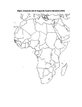 Colonialism in Africa Map Activity (Colonialismo en africa)