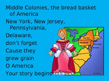 Colonies, Colonies, Colonies Song
