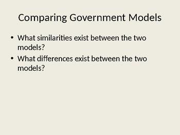 Colonies Gov't Models Powerpoint