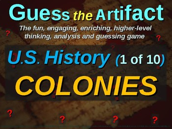 """Colonies """"Guess the Artifact"""" game with pictures & clues (1 of 10)"""