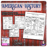 Colonies Illustrated Timelines - US History