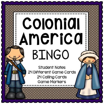 Colonies: New England, Middle, Southern BINGO