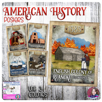 Colonies Poster Set - US History