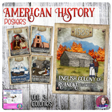 13 Colonies Poster Set - US History