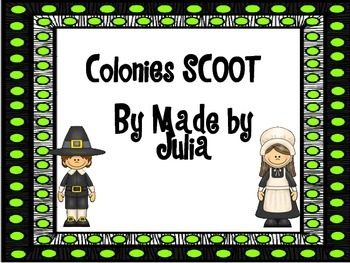 Colonies SCOOT- great for GA Milestone review!