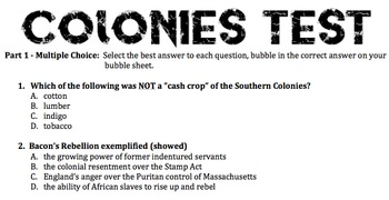 Colonies Test