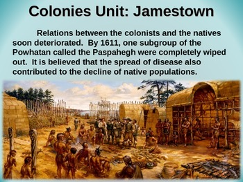 Colonies Unit (ALL 4 PARTS) visual, textual, engaging 75-slide PPT
