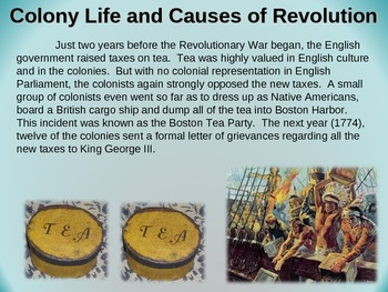 Colonies Unit (PART 4: COLONY LIFE & REASONS FOR REVOLUTION) visual, engaging