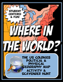 Colonies Where in the World Scavanger Hunt & Map Physical
