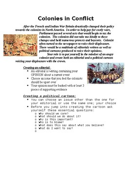 Road to Revolution Project - Create an Editorial & Political Cartoon