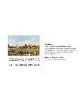 3.1 - Colonies of the South