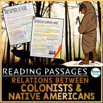 Colonist and Native American Relations Reading Passages | First Americans