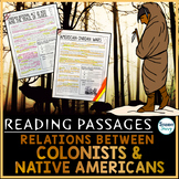 Colonist and Native American Relations Reading Passages |