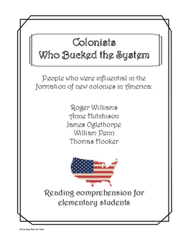 Who Were the Founders of the Early Colonies: Reading Comprehension