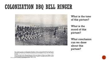 Colonization DBQ Bell Ringers