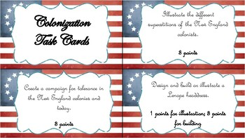 Colonization Extension Project Task Cards