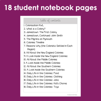 Colonization Interactive Notebook with Teacher Notes