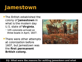 Colonization - Jamestown and its Failure