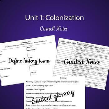 Colonization Notes (VUS.2 and VUS.3)