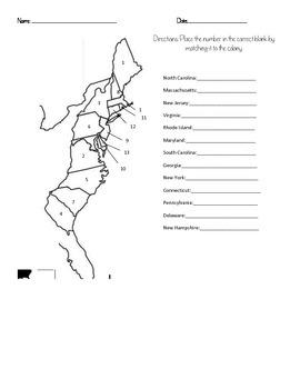 Colonization Quizzes: Colonies Map & Vocabulary