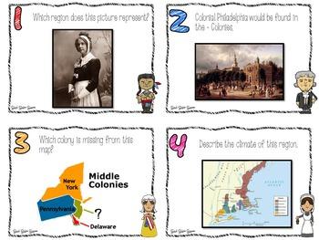 13 Colonies Task Cards