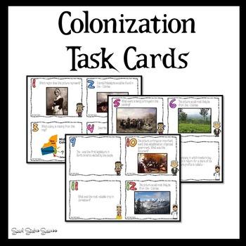 Colonization Task Cards - 13 Colonies - American Colonies