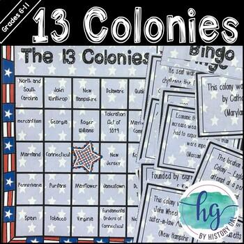 13 Colonies Bingo