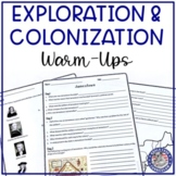 Exploration and Colonization Warm-ups / Bellringers