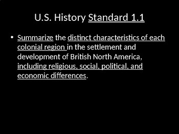 Colonization and foundation of US HIstory