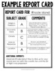 Colonization of America Report Card for a Colony Project (