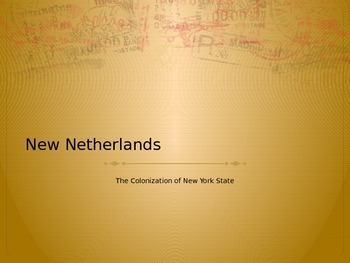 Colonization of NY (New Netherlands) Powerpoint