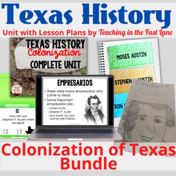 Colonization of Texas Bundle with Lesson Plans
