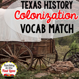 Colonization of Texas Vocabulary Match Up