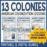13 Colonies Unit | Colonial America | Colonization | Print