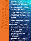 Colony Cash- No Taxation without Representation Sign (EDITABLE)